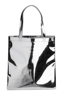 Shimmering metallic shopper